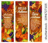 hello autumn banners for... | Shutterstock .eps vector #1096727105