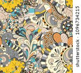 tracery seamless pattern.... | Shutterstock .eps vector #1096734215