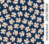 free hand bold floral print... | Shutterstock .eps vector #1096738028