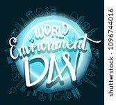 world environment day hand... | Shutterstock .eps vector #1096744016