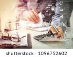 investor analyzing stock market ... | Shutterstock . vector #1096752602