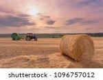 beautiful summer landscape... | Shutterstock . vector #1096757012