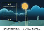 a ladder reaching up to the... | Shutterstock .eps vector #1096758962