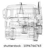 garbage truck concept. vector... | Shutterstock .eps vector #1096766765