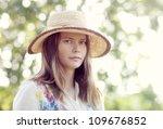 beautiful blonde woman on meadow | Shutterstock . vector #109676852