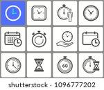 clock time icon set   vector... | Shutterstock .eps vector #1096777202