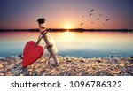 love letter   romantic bottle... | Shutterstock . vector #1096786322