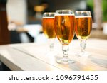 glasses with cold beer on table ... | Shutterstock . vector #1096791455