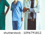 group of happy senior doctor... | Shutterstock . vector #1096791812