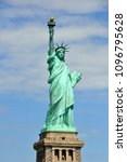 great statue of liberty on her... | Shutterstock . vector #1096795628