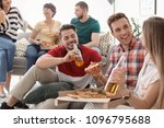 young people having fun party... | Shutterstock . vector #1096795688