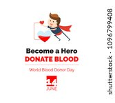 world blood donor day. become a ... | Shutterstock .eps vector #1096799408