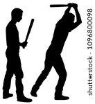 silhouettes of people hitting... | Shutterstock .eps vector #1096800098