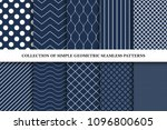 collection of classic seamless... | Shutterstock .eps vector #1096800605