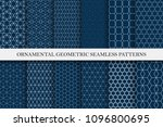 collection of seamless... | Shutterstock .eps vector #1096800695
