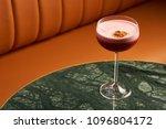 classical katana cocktail on... | Shutterstock . vector #1096804172