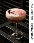 classical katana cocktail on... | Shutterstock . vector #1096804442