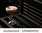 classical katana cocktail on... | Shutterstock . vector #1096804502