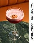 classical katana cocktail on... | Shutterstock . vector #1096807796