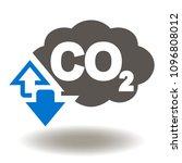 co2 icon. cloud carbon dioxide... | Shutterstock .eps vector #1096808012