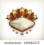 vegas emblem  old style vector... | Shutterstock .eps vector #109681172
