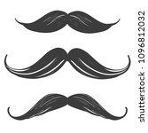 moustache set  manhood ... | Shutterstock .eps vector #1096812032