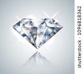 diamond isolated on white  ... | Shutterstock .eps vector #1096818362