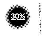 30  offf label. vector... | Shutterstock .eps vector #1096822322