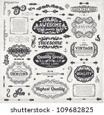 retro elements for calligraphic ... | Shutterstock .eps vector #109682825