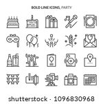 party  event   bold line icons. ... | Shutterstock .eps vector #1096830968