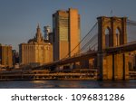 sunrise over manhattan view... | Shutterstock . vector #1096831286