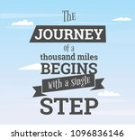the journey of a thousand miles ... | Shutterstock .eps vector #1096836146
