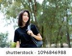 asian student girl back to... | Shutterstock . vector #1096846988