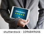 online reviews evaluation time... | Shutterstock . vector #1096849646