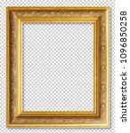 golden wooden frame isolated on ... | Shutterstock . vector #1096850258