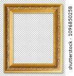 golden wooden frame isolated on ... | Shutterstock . vector #1096850258