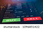 futuristic stock exchange scene ... | Shutterstock . vector #1096851422