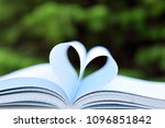 heart shape of paper book pages ... | Shutterstock . vector #1096851842