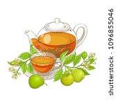 bergamot tea vector illustration | Shutterstock .eps vector #1096855046
