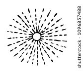 hand drawing rays of the sun.... | Shutterstock .eps vector #1096857488