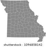 missouri county map vector... | Shutterstock .eps vector #1096858142