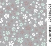 simple pastel color floral... | Shutterstock . vector #1096861028
