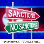 north korean sanctions or no to ... | Shutterstock . vector #1096867868