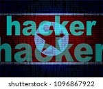 hackers means north korean... | Shutterstock . vector #1096867922