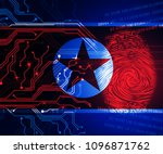 cyber attacks risk from north... | Shutterstock . vector #1096871762