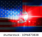 north korea and united states... | Shutterstock . vector #1096873838