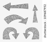 set of hand drawn arrows.... | Shutterstock .eps vector #109687952