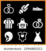 set of 9 fashion filled icons... | Shutterstock .eps vector #1096883312