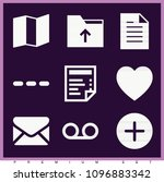 set of 9 interface filled icons ...   Shutterstock .eps vector #1096883342