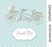 tandem bicycle wedding... | Shutterstock .eps vector #109689602
